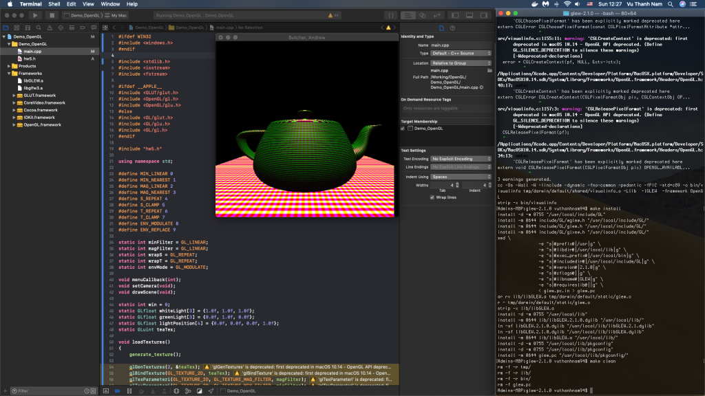 Setup OpenGL Environment on Xcode | NTechDevelopers