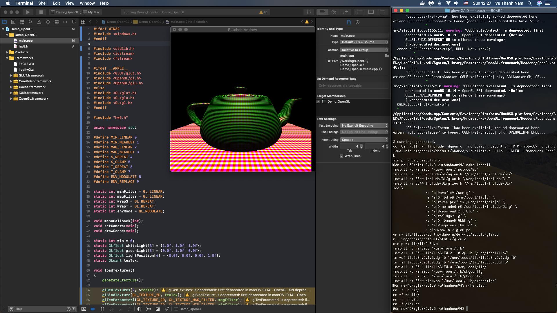 Setup OpenGL Environment on Xcode