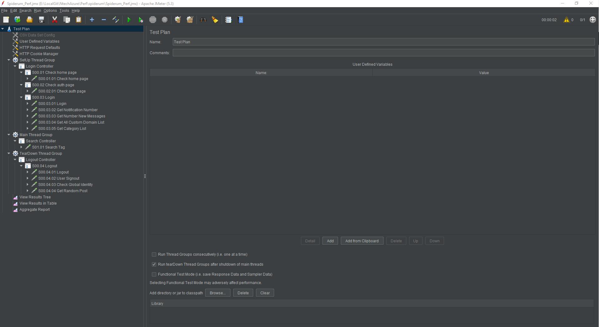 #11 Update script jmeter spiderum – Cách mà tôi tổ chức cấu trúc kịch bản kiểm thử